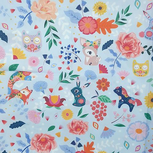 "Coupon tissu ""Folk Pattern"" 50x140cm"