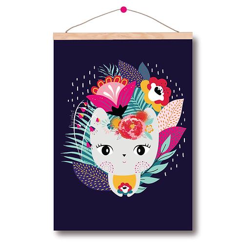 """Affiche A4 """"Frida Chat"""""""