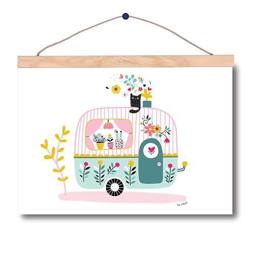 """Affiche A3 """"Caravane"""""""