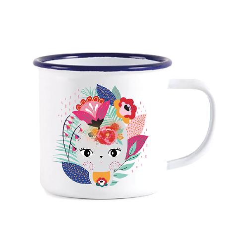 """Mug Timbale en acier """"Frida Chat"""""""