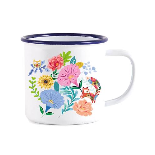 """Mug Timbale en acier """"Floral Folk"""""""