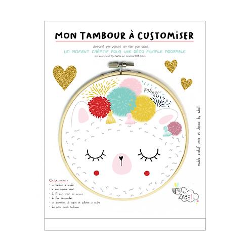 """Kit """"Custom"""" pour Tambour déco """"LAMA"""""""