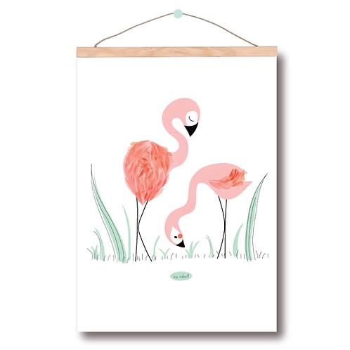 """Affiche A3 """"Flamingo"""""""