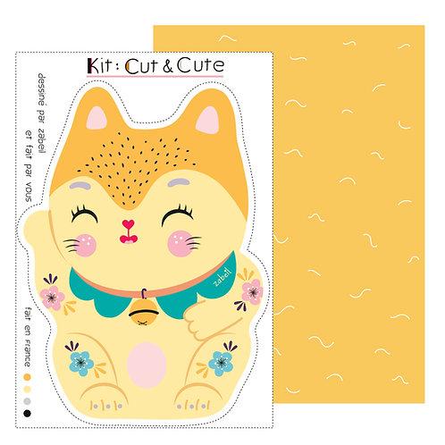 """KIT CUTE pour doudou """"Maneki Neko"""""""