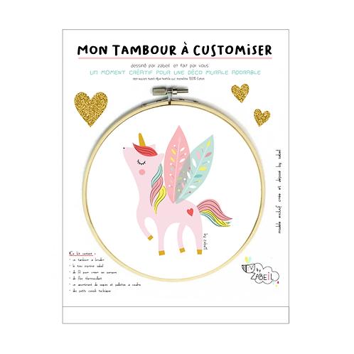 """Kit """"Custom"""" pour Tambour déco """"Pégase"""""""