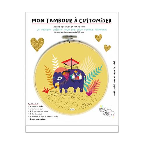 """Kit """"Custom"""" pour Tambour déco """"Eléphant"""""""