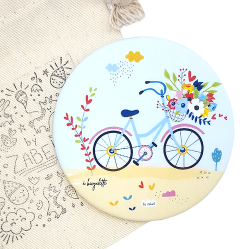 """Miroir de poche """"Bicyclette"""""""