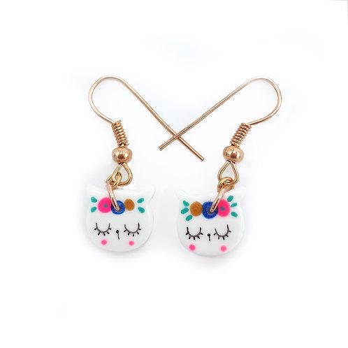 """Boucles d'oreilles mini""""Frida Chat"""""""