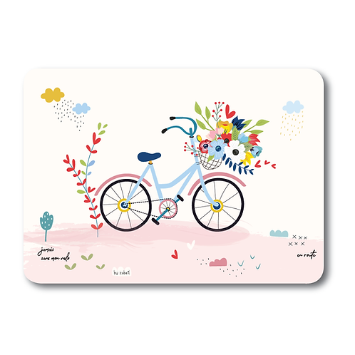 """Carte """"A bicyclette"""""""