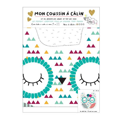 """Kit DIY Coussin à Câlins """"CHOUETTE"""""""