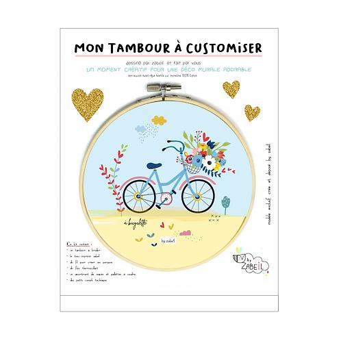"""Kit """"Custom"""" pour Tambour déco """"Bicyclette"""""""