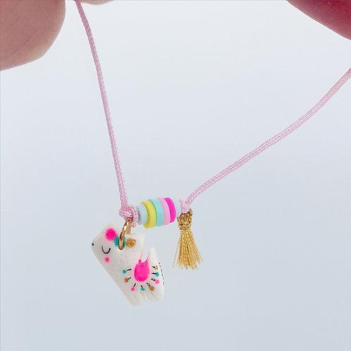 "Bracelet cordon ""Alpaga"" rose pastel"