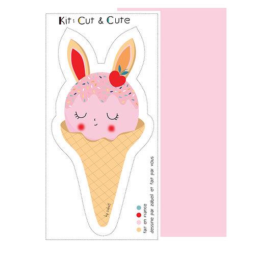 """KIT CUTE pour doudou """"Lap'ICE"""" Rose"""