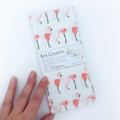 """Coupon tissu """"Flamingo"""" 31 x 35 cm"""