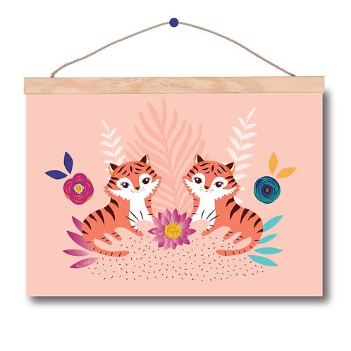 """Affiche A4 """"Tigre Duo"""""""