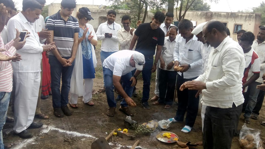 Bhumi Pujan of Housing for Tribal project in Amdabad