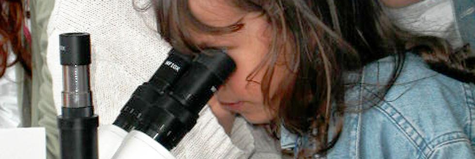 Enfant qui regarde au microscope. Illustration de la curiosité. La curiosité dynamise l'esprit humain. médiation et animation culturelle, patrimoniale et scientifique.