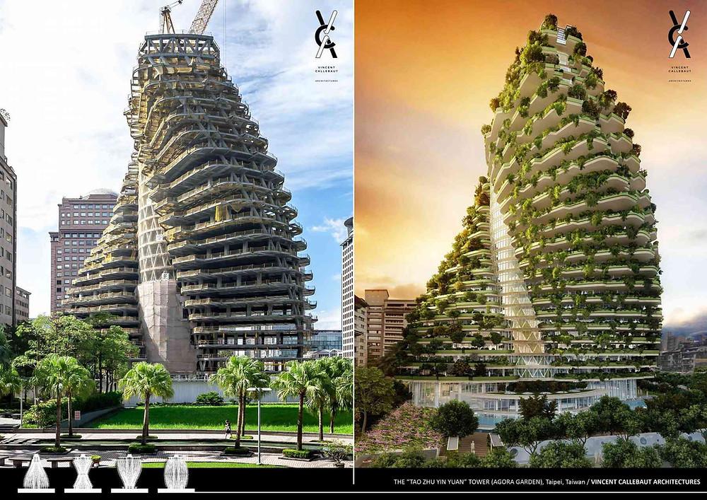 La tour Agora Garden de Taipei (Taiwan). Source : http://vincent.callebaut.org