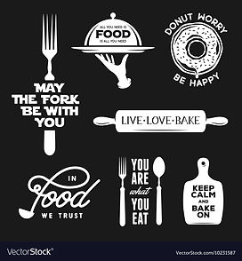 food-related-typography-set-quotes-about