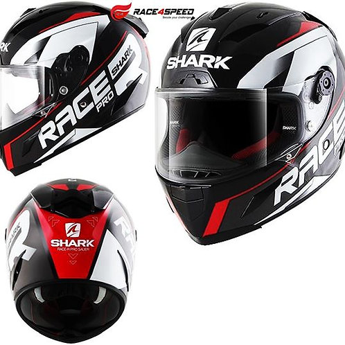 SHARK RACE-R PRO SAUER Black Anthracite Red