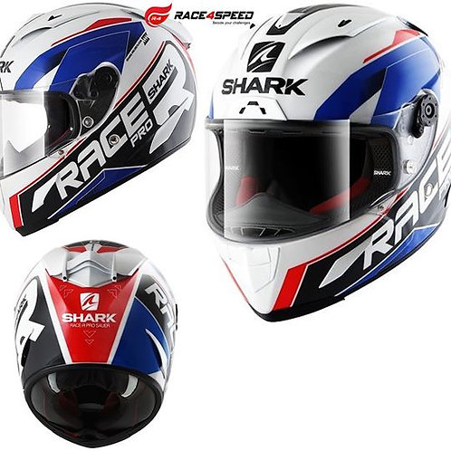 SHARK RACE-R PRO GUINTOLI White Blue Black