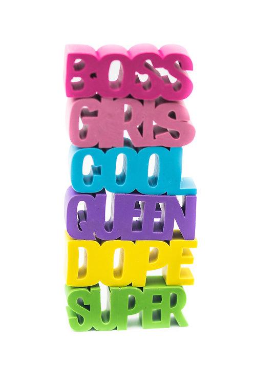 Word Art Eraser Blocks