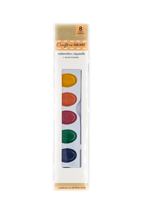 Crafters Square 8 color watercolor Palette