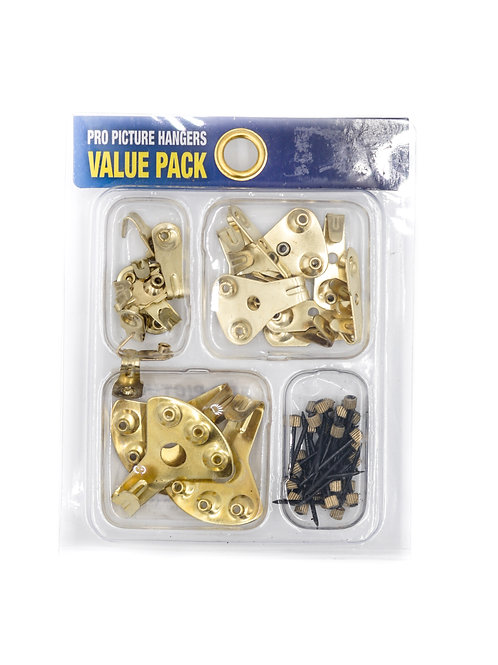 Brass Plated Picture Hanger Kit