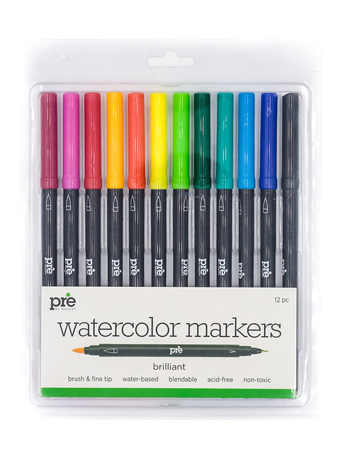 Premiere Dual Tip Watercolor Markers 12pc