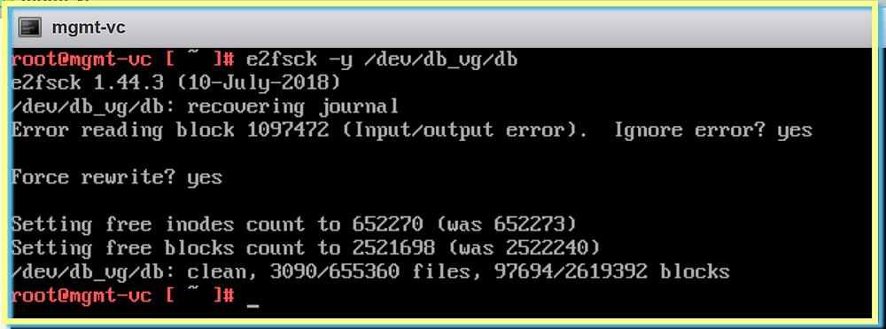 e2fsck recovering journal