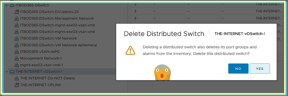 Deleted Distributed Switch