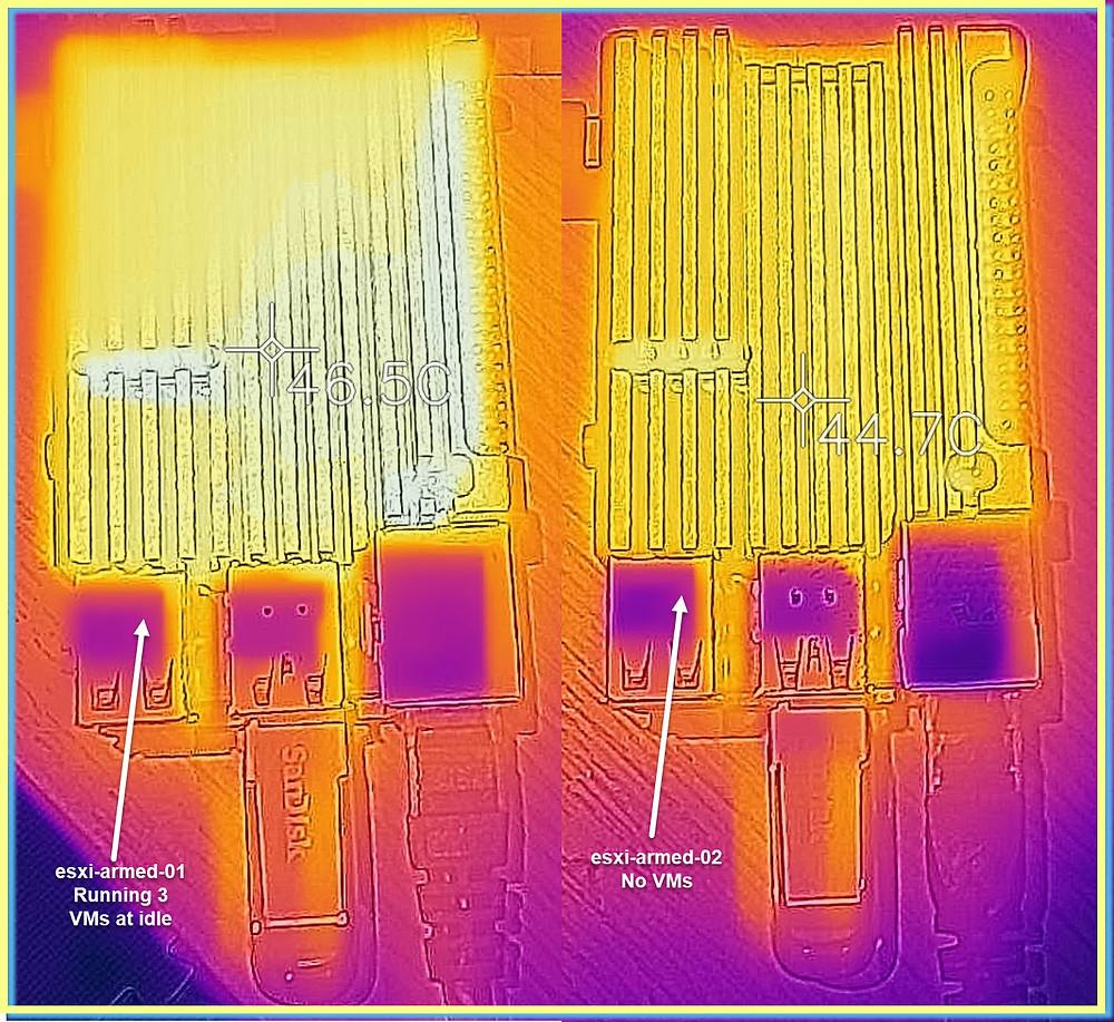 ESXi Arm Picade Heatsink Case FLIR heat