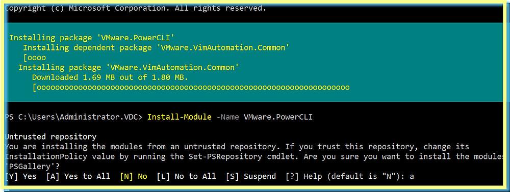 Install PowerCLI Command