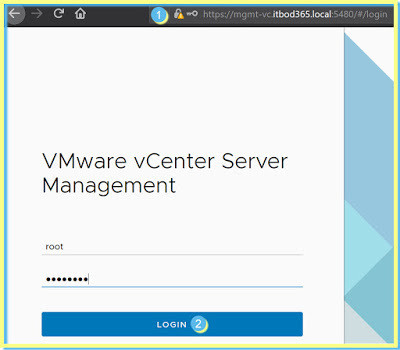 VMware Webclient admin login