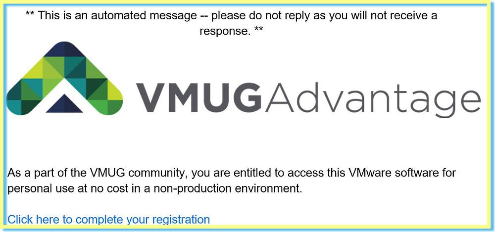 VMUG Advantage Registration
