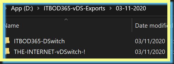 ITBOD365 vDS Backups