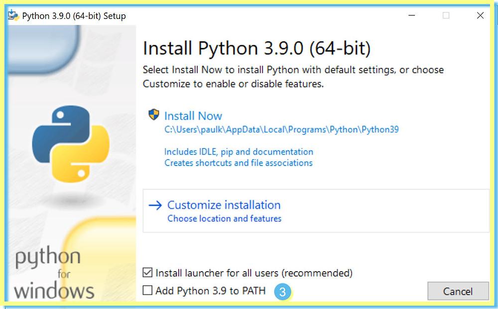 Python Customize Install