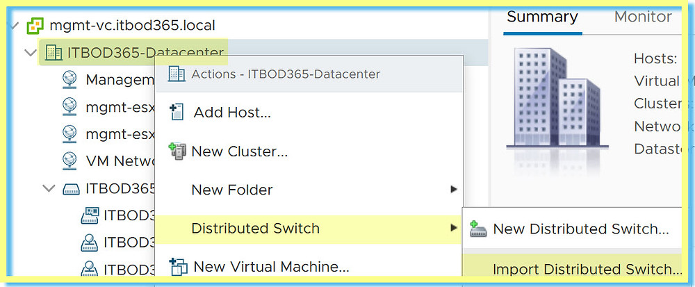 Web Client vDS Datacenter