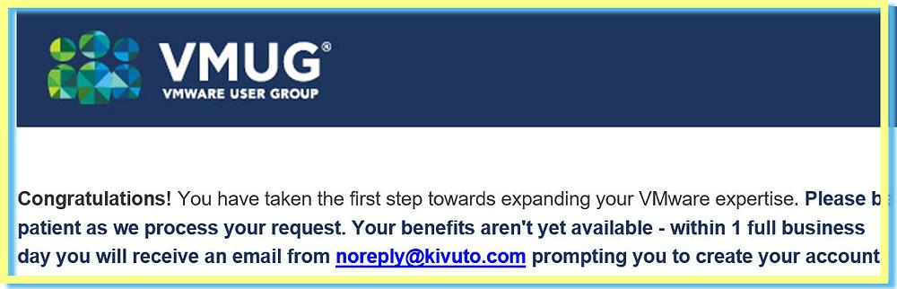 Joined VMUG Advantage