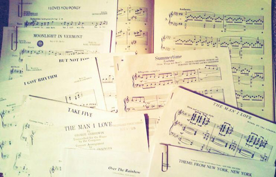 scores for music played at an event