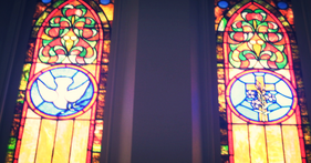 Stained glass in a church in Maryland