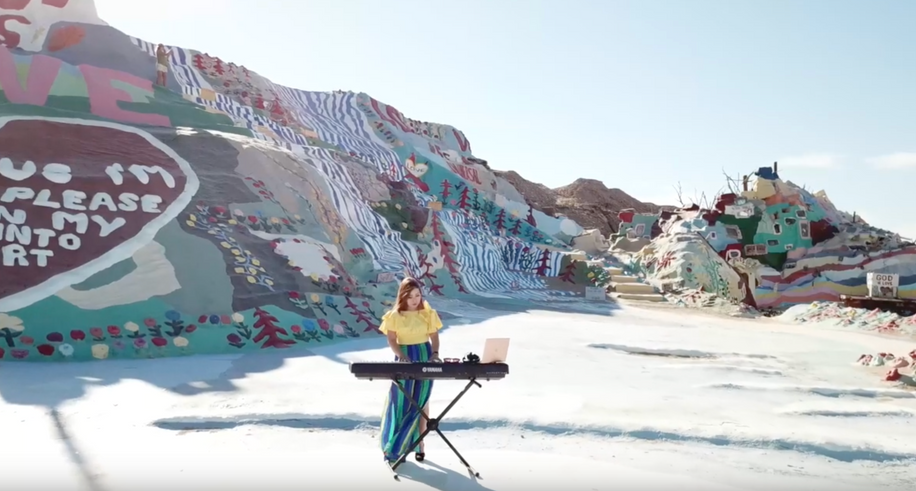 Salvation Mountain Drone Shot