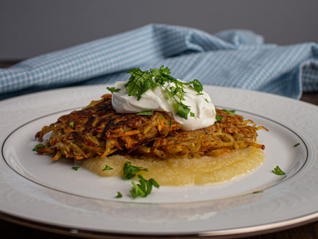 The Perfect Pair Potato Pancakes (Latkes)