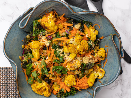 Moroccan Roasted Cauliflower Salad