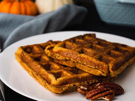 Thanksgiving Sweet Potato Waffles