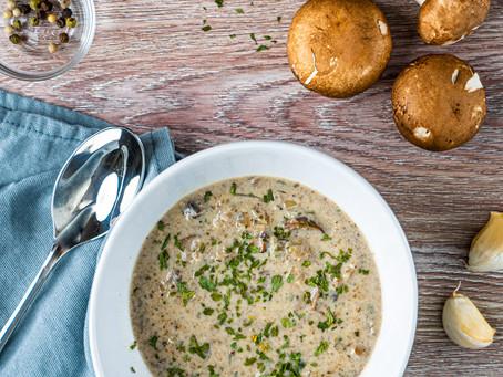 Healthier Creamy Mushroom Soup