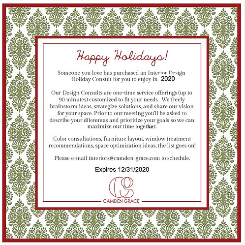 Design Consult Gift Card