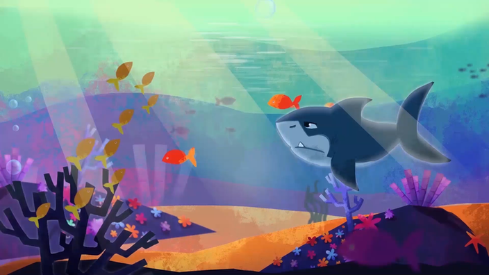 Still from my animation short ''Underwater'', 2019
