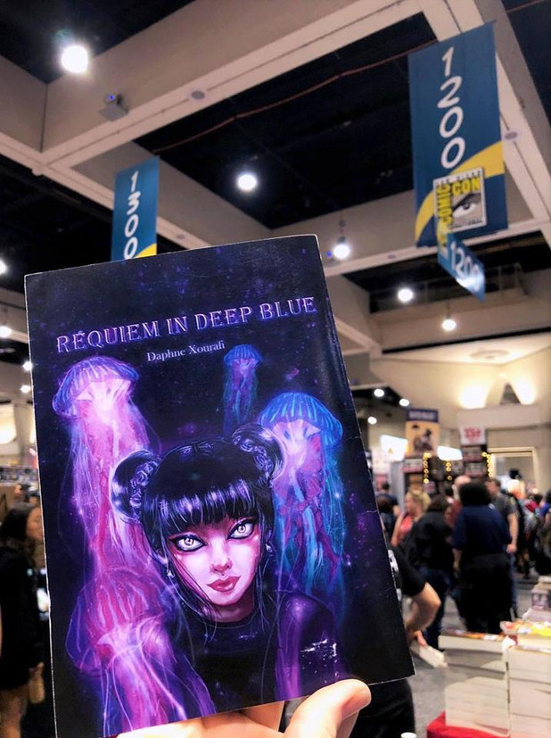''Requiem in Deep Blue'' comic travelled to San Diego Comic Con, under the University of Dundee, DJCAD section, 2018