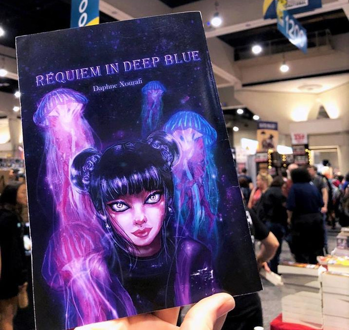 Requiem In Deep Blue traveled to San Diego Con, under the Duncan of Jordanstone College of Art and Design section, 2018
